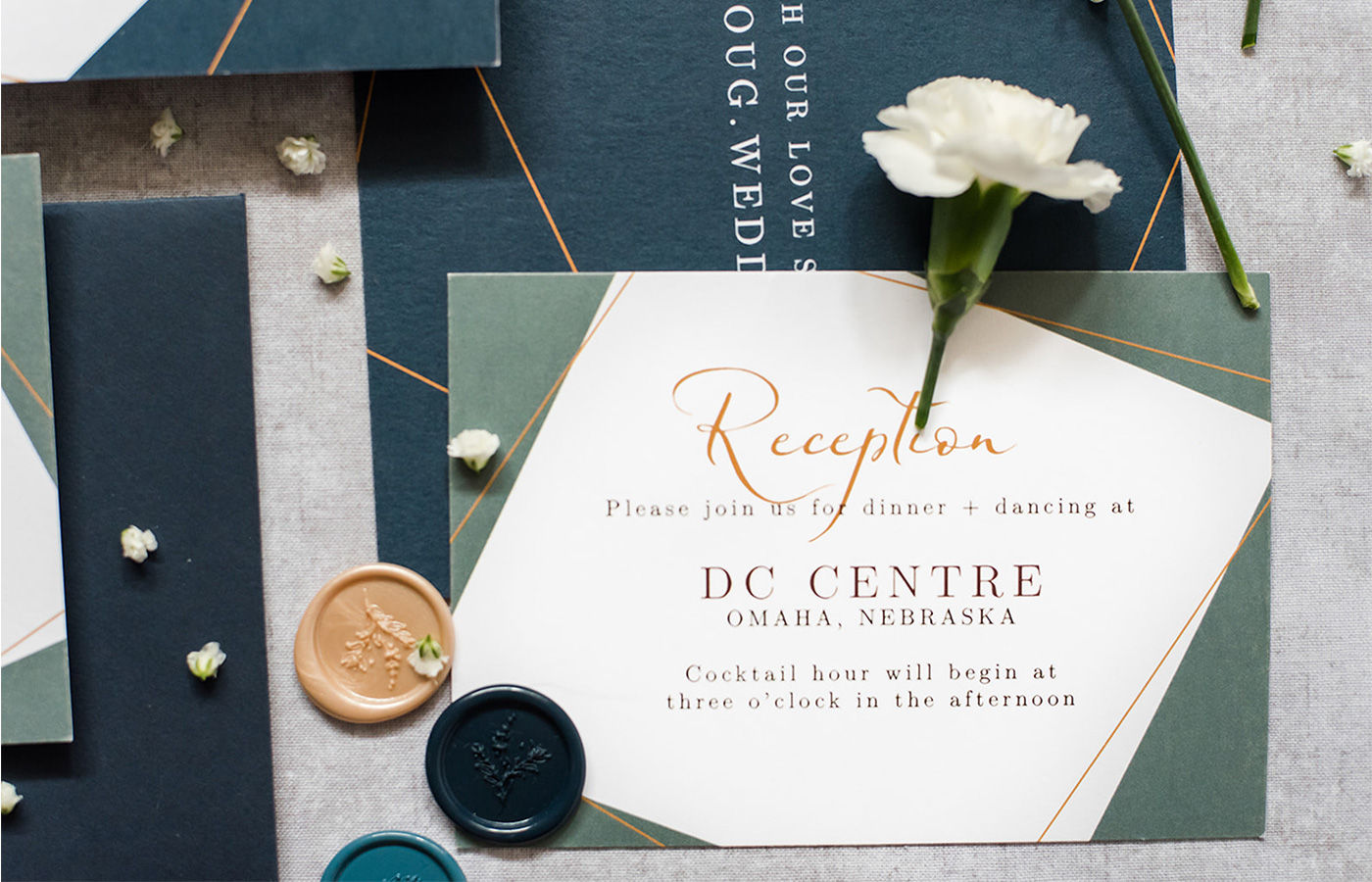 Revolution-Paper-Co-Luxury-Wedding-Stationery-Geometric-Love-Collection-reception-enclosure-photo-by-Prairie-Rose-Photography